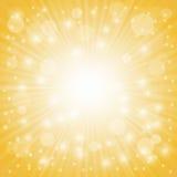 Yellow Ray Background Stock Photo
