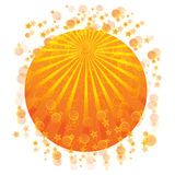 Yellow Ray and explosion. Beautiful illustration of yellow ray coming on the top of a globe Stock Photo