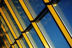 Yellow rays 2. A background view of a modern style window Stock Image