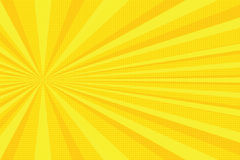 Yellow rays pop art background Royalty Free Stock Images