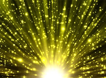 Yellow rays and stars Royalty Free Stock Images