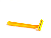 The yellow razor Royalty Free Stock Images