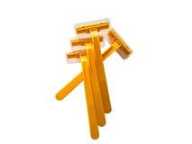 Yellow razor ,yellow shave Stock Photography