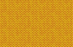 Yellow realistic simple knit texture vector seamless pattern Royalty Free Stock Photos