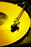 Yellow record Stock Photo