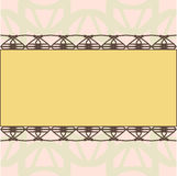 Yellow rectangle ornament invitation template Royalty Free Stock Photography