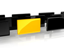 Yellow rectangle Royalty Free Stock Images