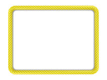Yellow rectangle rope frame Stock Image