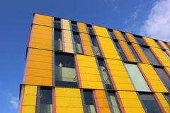 Yellow rectangles architectural feature. Stock Image