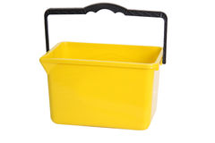 Yellow rectangular bucket Royalty Free Stock Photo