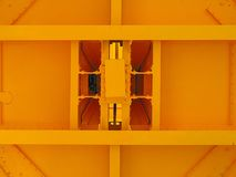Yellow rectangular constuction. Yellow painted rectangular steel constuction Stock Images