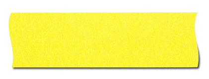 Yellow rectangular sticky note. Isolated on white background, with shadow Royalty Free Stock Photo