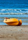 Yellow recue boat - lifeboat Stock Photos