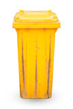 Yellow recycle bin isolated Royalty Free Stock Image