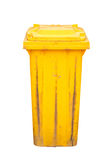Yellow recycle bin isolated Royalty Free Stock Images