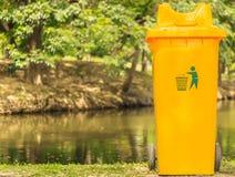 yellow recycle Stock Photo