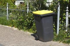 Yellow Recycling  Bin Stock Photography
