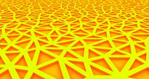 Yellow and red Abstract background formed by triangles with interior lighting. 3d illustration stock illustration
