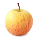 Yellow with red apple Stock Images