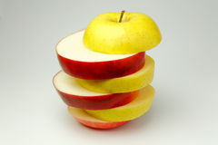 Yellow and red apple Royalty Free Stock Photography