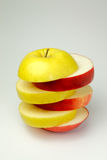 Yellow and red apple Stock Images