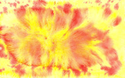 Yellow and red aquarelle Royalty Free Stock Photography