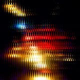 Striped glitter background with glitch effect. Yellow-red background with glitch effect. Colorful bright mosaic vertical strips on black. Background for site vector illustration