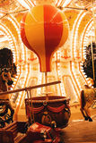 Yellow and red balloon in carousel at night Royalty Free Stock Photography
