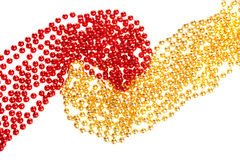 Yellow and red beads Stock Photography