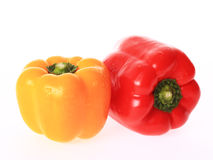 Yellow and red bell pepper Royalty Free Stock Photo