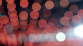 Yellow and red bokeh. Yellow blur bokeh with black background stock video