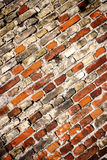 Yellow and red brick wall Stock Photos