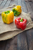 Yellow and red capsicum Royalty Free Stock Photography