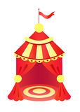 Yellow and red circus tent. Vector illustration of isolated circus tent Stock Photo