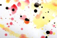 Yellow, red  colorlump, my artwork Stock Photos