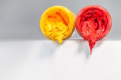 yellow and red colors are primary color. Stock Photography