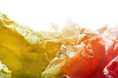 Crumpled colorful paper stock photography