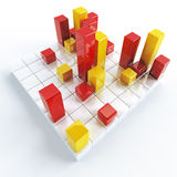 Yellow and red cubes Royalty Free Stock Photos