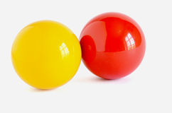Yellow and red cue bill Royalty Free Stock Images