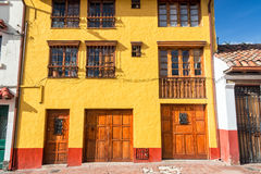 Yellow and Red Facade Stock Images