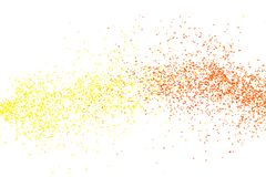 Yellow red falling particles round shape on white backround royalty free stock photography