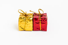 Yellow and Red Gift Box Royalty Free Stock Photo