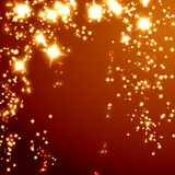 Yellow and red glitter Royalty Free Stock Photography