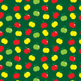 Yellow red green apple pattern background Stock Photo