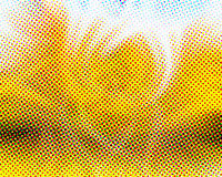 Yellow Red Green and black halftone Royalty Free Stock Photography
