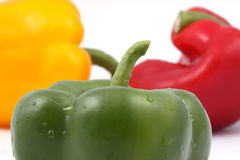 Yellow, red and green pepper Royalty Free Stock Image