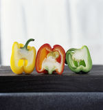 Yellow,red and green peppers. Food, gastronomy, cooking,cookery Stock Photography