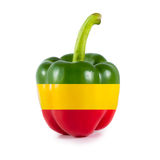 Yellow red and green Sweet bell pepper (capsicum) Stock Image