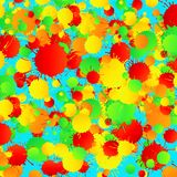 Yellow, red, green, turquoise watercolor background square Stock Image