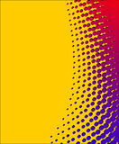 Yellow-red halftone background. Yellow-red halftone dots for backgrounds Royalty Free Stock Photo
